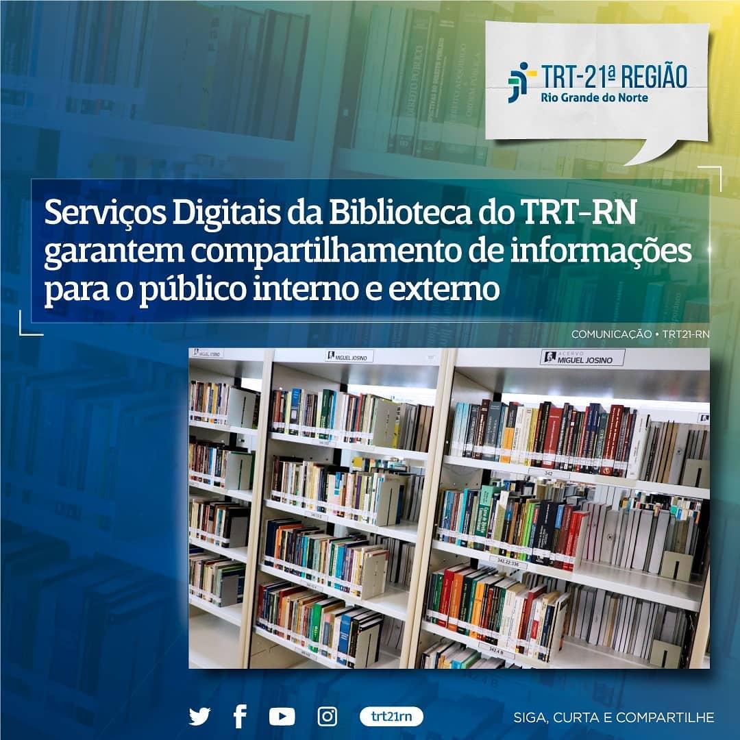 Serviços Digitais da Biblioteca do TRT-RN garantem compartilhamento de informações para o público interno e externo